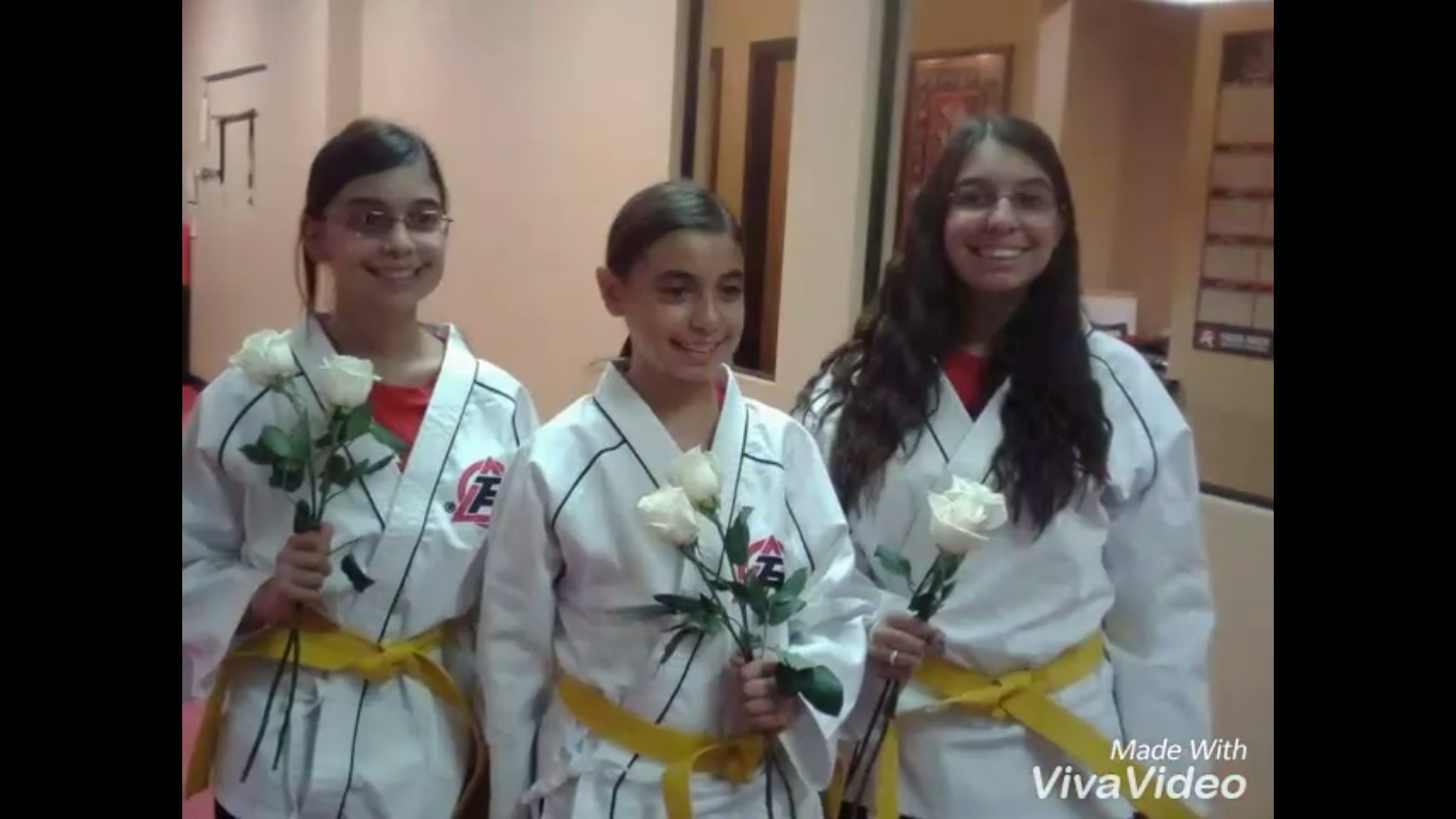 Three sisters win award for Tae Kwan Do