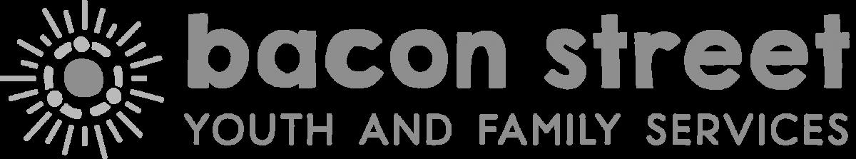 Bacon Street logo in grayscale