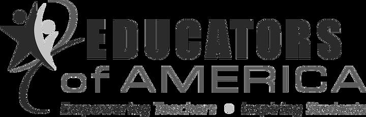 Educators of America logo in grayscale