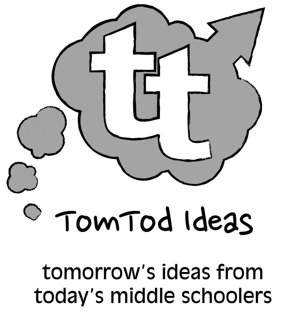 TomTod Ideas logo in grayscale