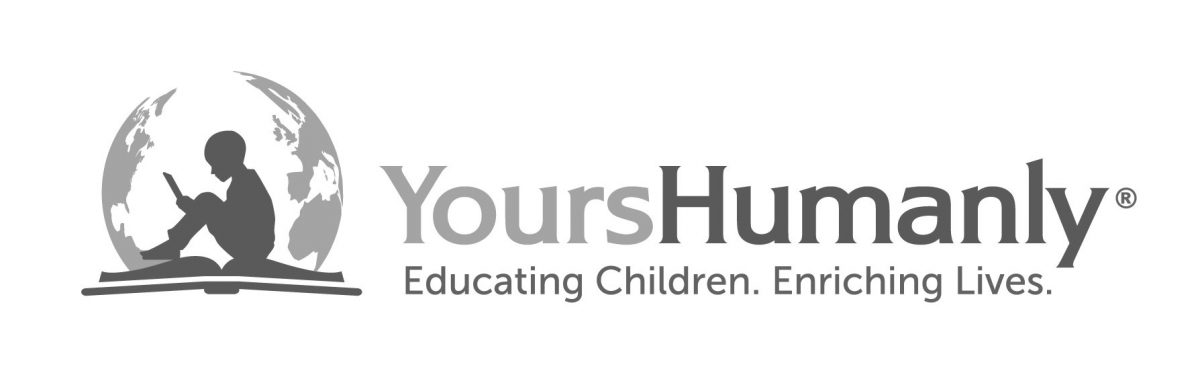 Yours Humanly logo in grayscale