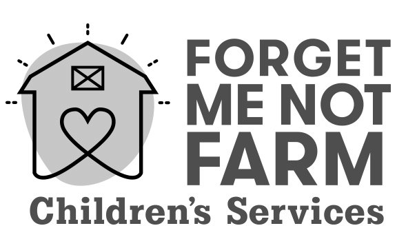 Forget Me Not Farm logo in grayscale