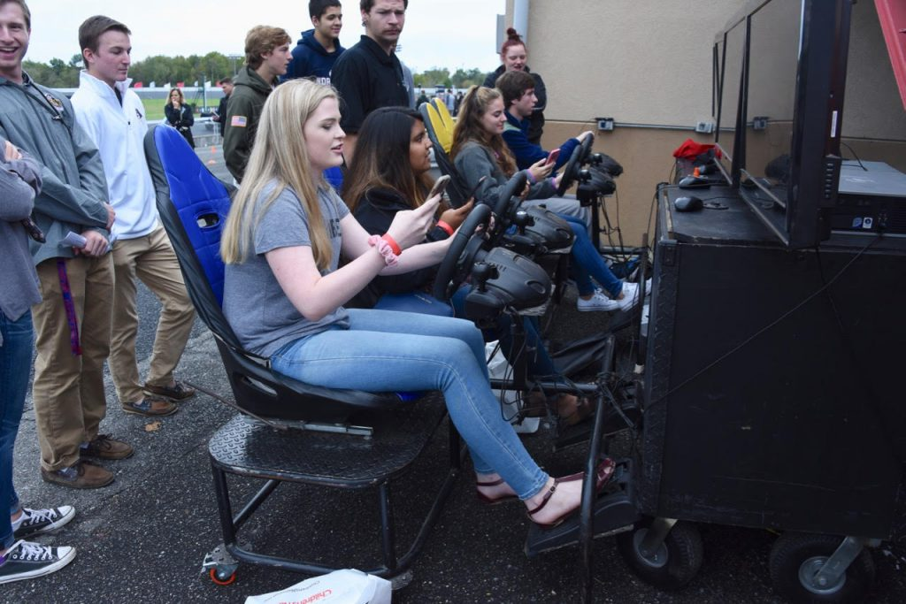 Distracted driving simulator at 2017 lab