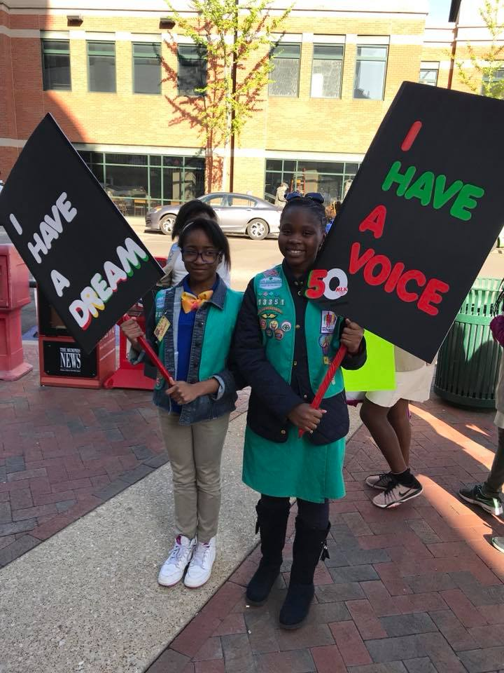 Girl Scout MLK advocacy