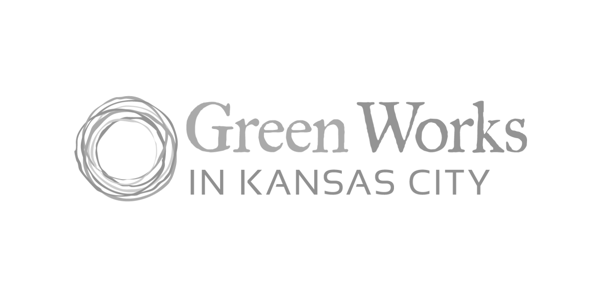 Green Works in KC Logo in Grayscale
