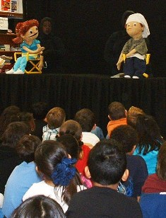 Puppets give a talk on personal safety