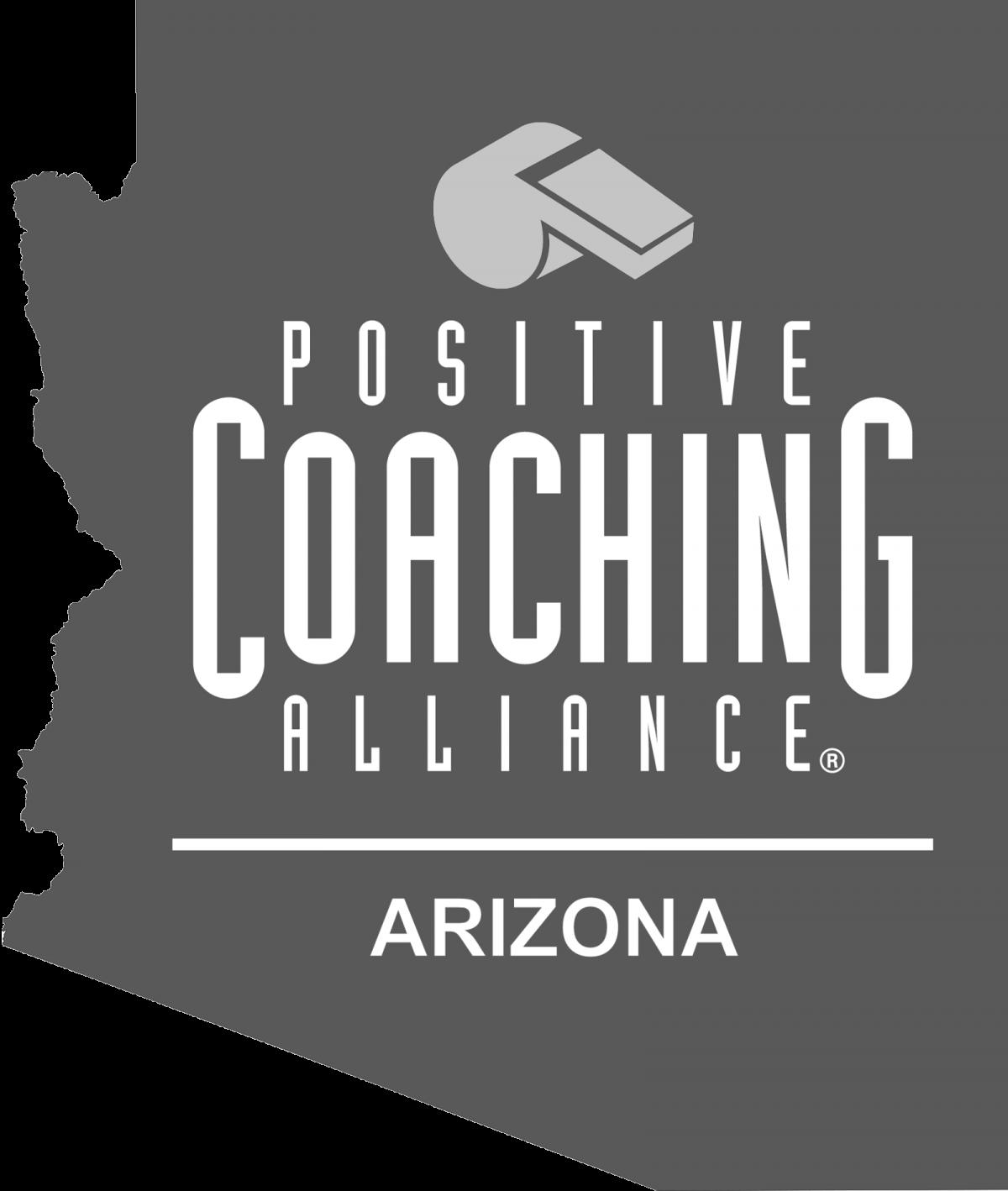 Positive Coaching Alliance Arizona Logo Grayscale