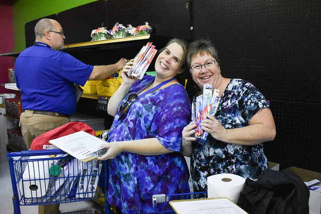 Teachers shop for school supplies at the Classroom Central shop