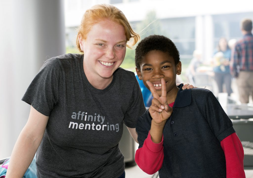 Mentor and mentee at Affinity Mentoring