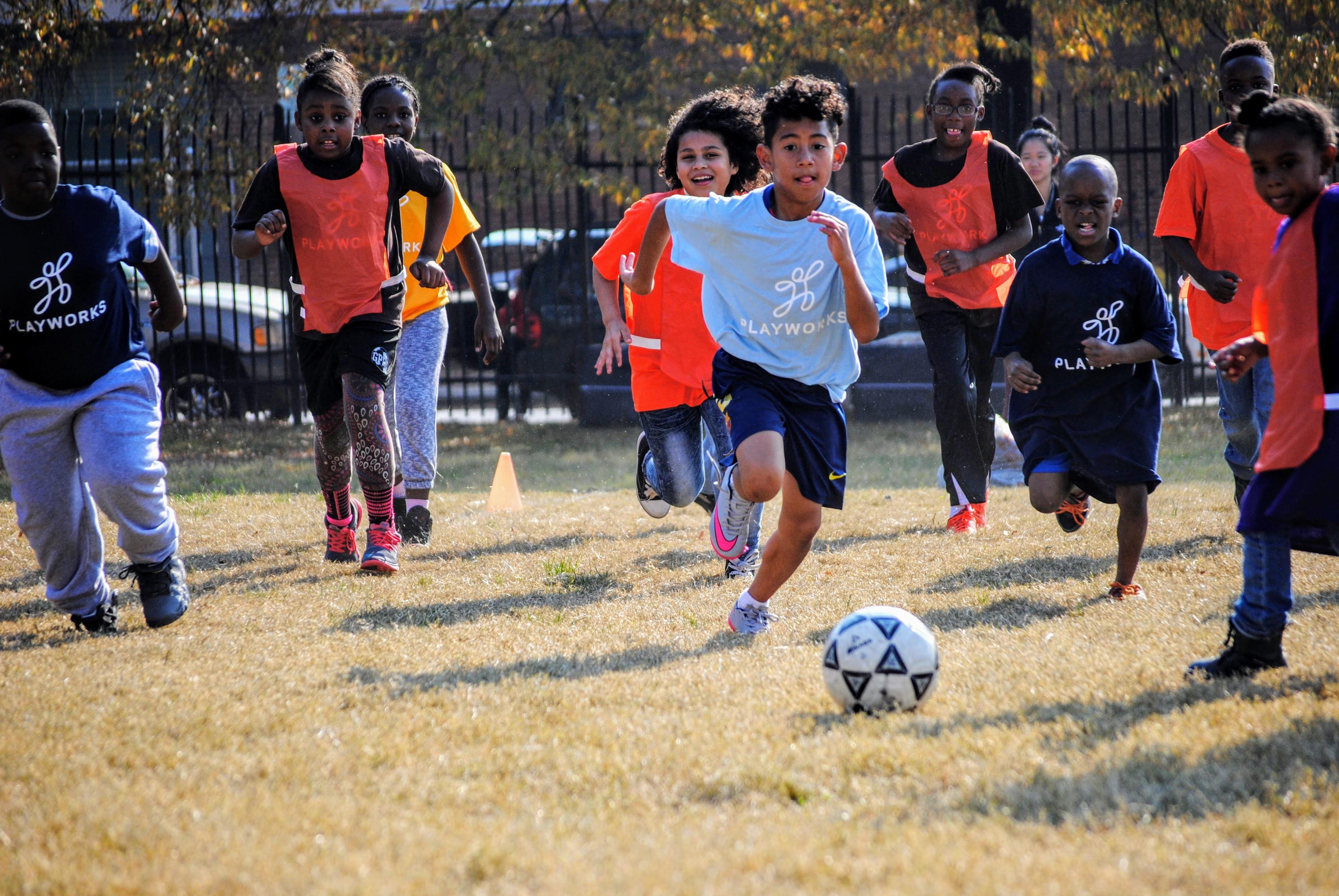 Playworks soccer game