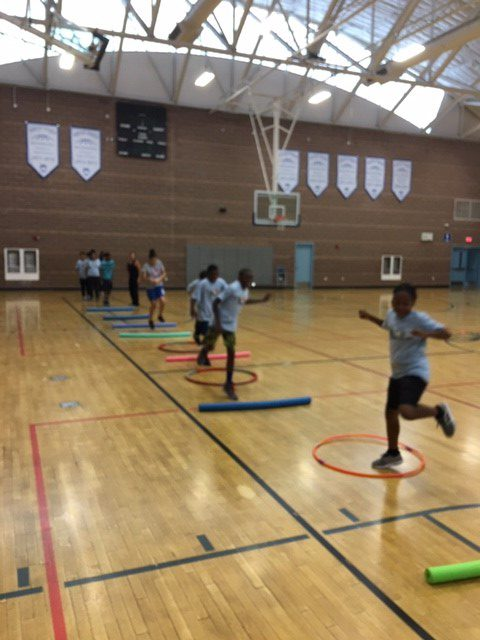 Hoops for Hope summer camp activity