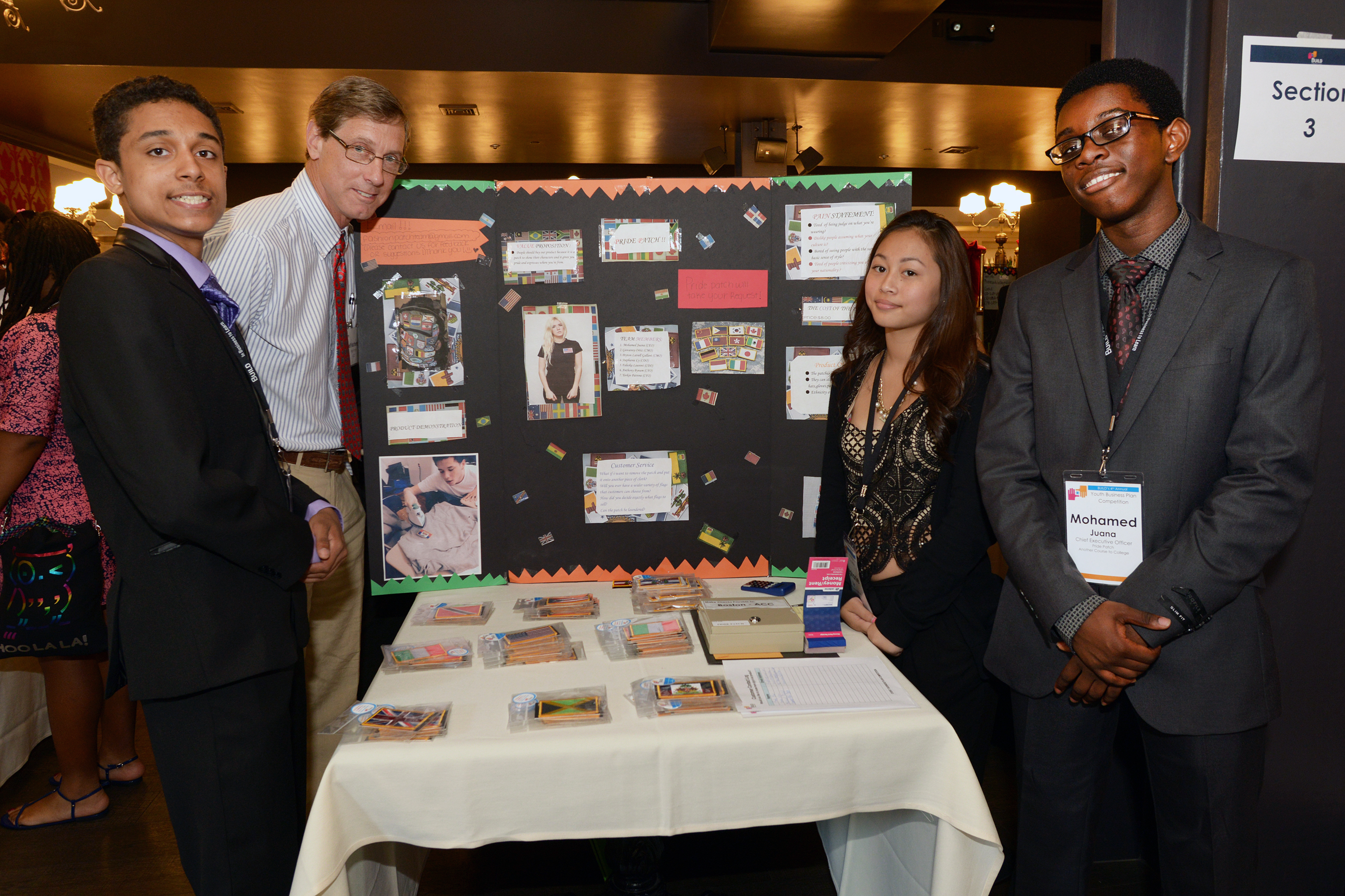BUILD students with pride patch business project
