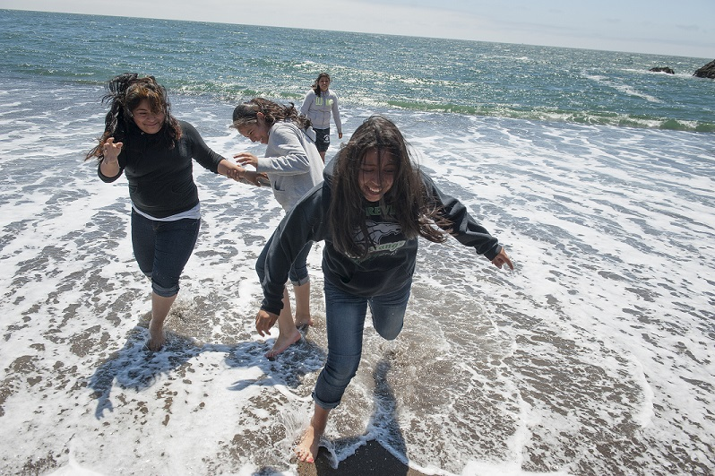 Aim High students spend the day at the ocean