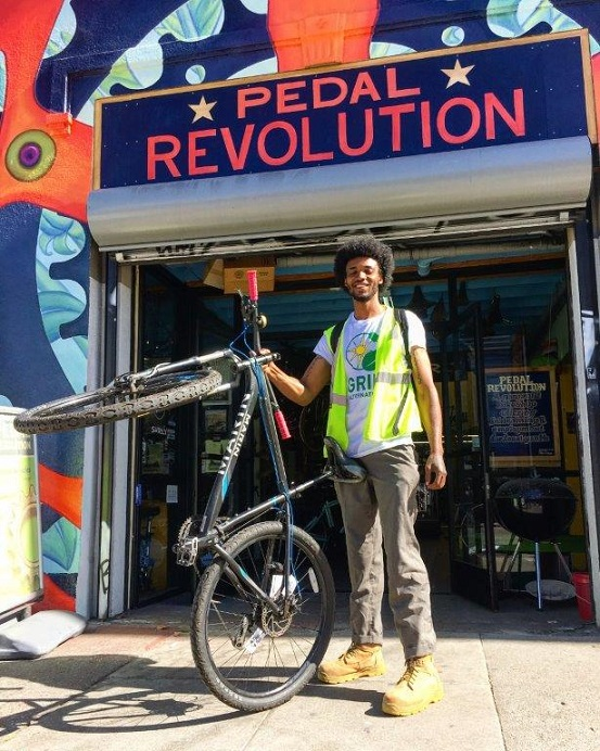 New Door Ventures' Pedal Revolution with intern
