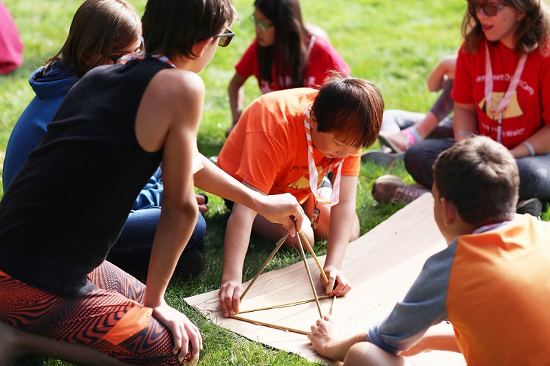 Merry Heart Children's Camp participants enjoy a camp activity