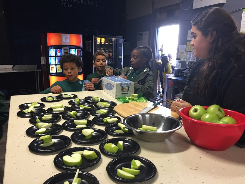 Nutrition workshop at East Oakland Boxing Association (EOBA)