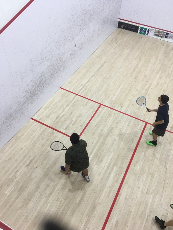 Mile High 360 students play squash