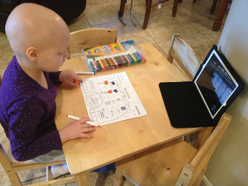 Pediatric cancer patient does classwork thanks to Hopecam