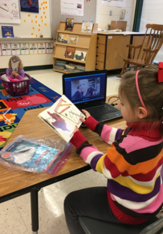 Virtual reading session for young girl with cancer