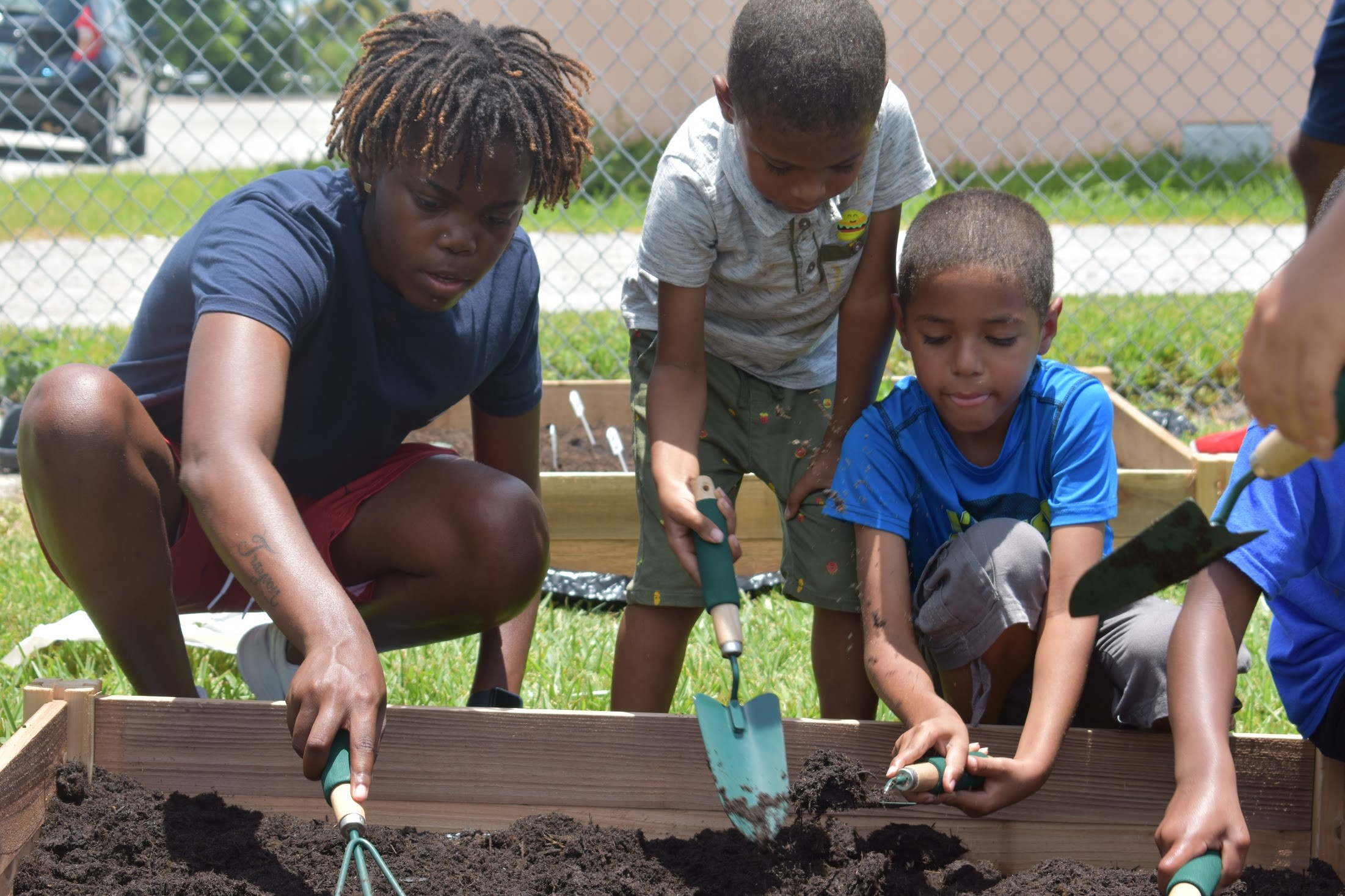Mentor and mentee gardening
