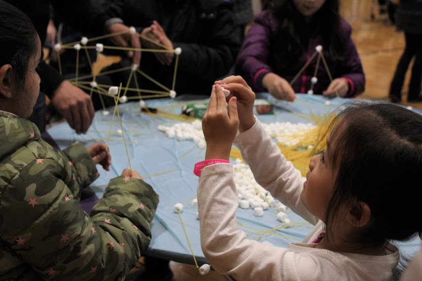 Building constellations with pasta and marshmallows