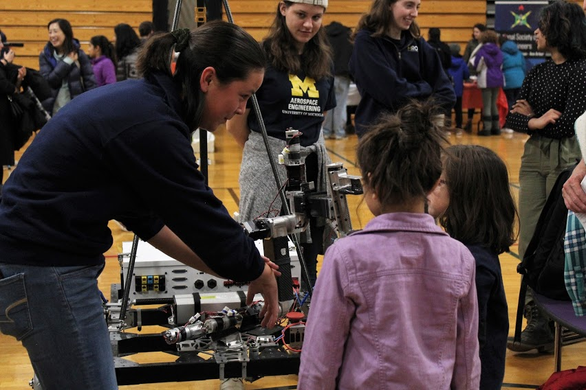 STEM without Boundaries STEM Night robot demonstration
