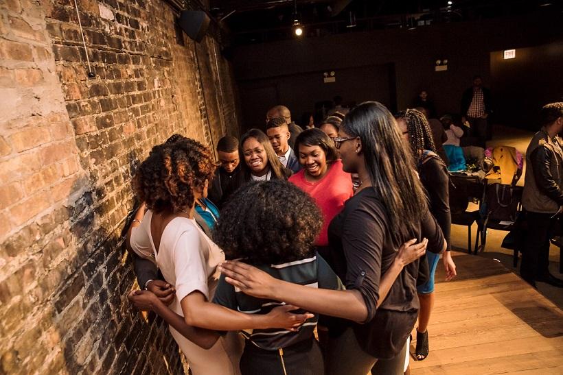 Gray Matter youth group hug