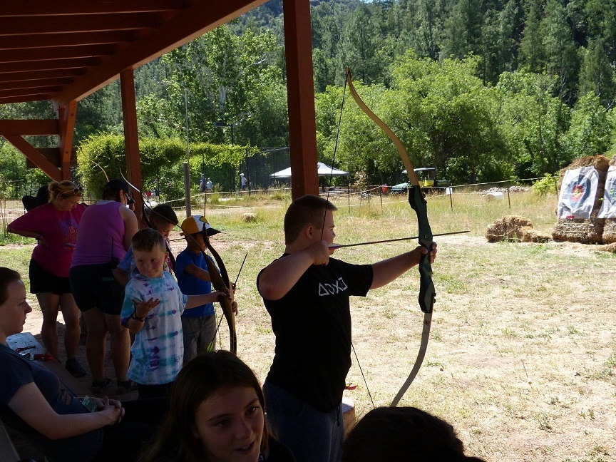 Southwest Kids Cancer Foundation archery session