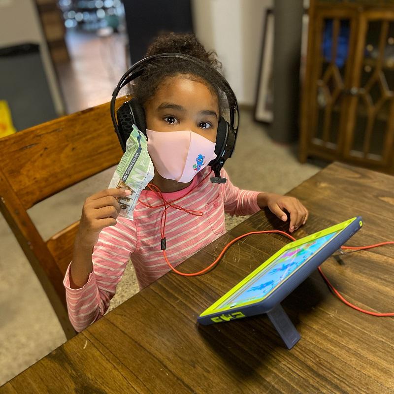 Girl at Summer Blast Camp, Literacy Matters Foundation