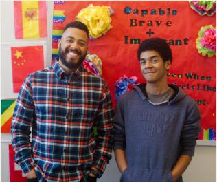 Communities in Schools Hampton Roads coordinator with young mentee