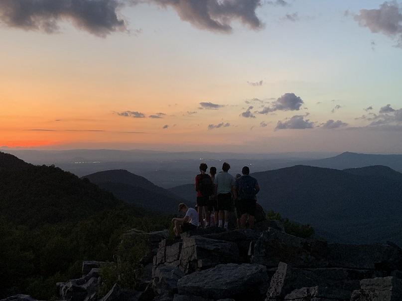 Valley Scholars enjoy a sunset