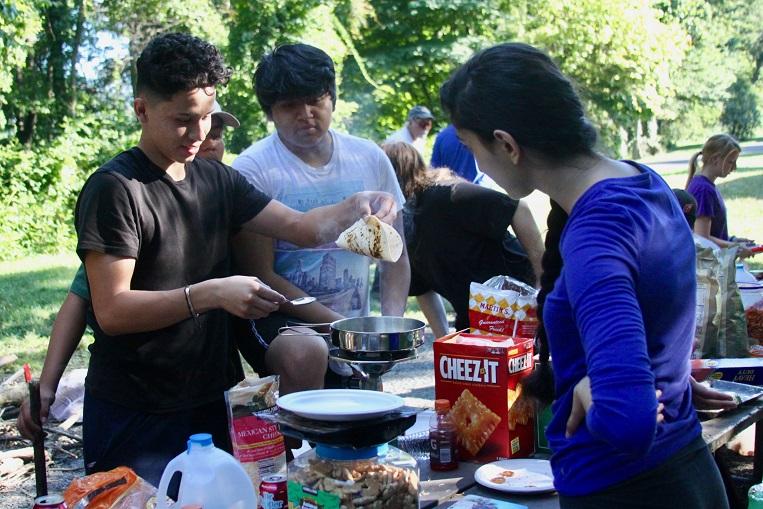 Summer camp buffet Valley Scholars