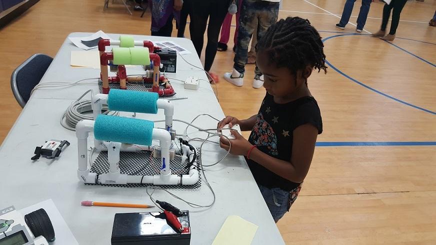 Students explore underwater robot