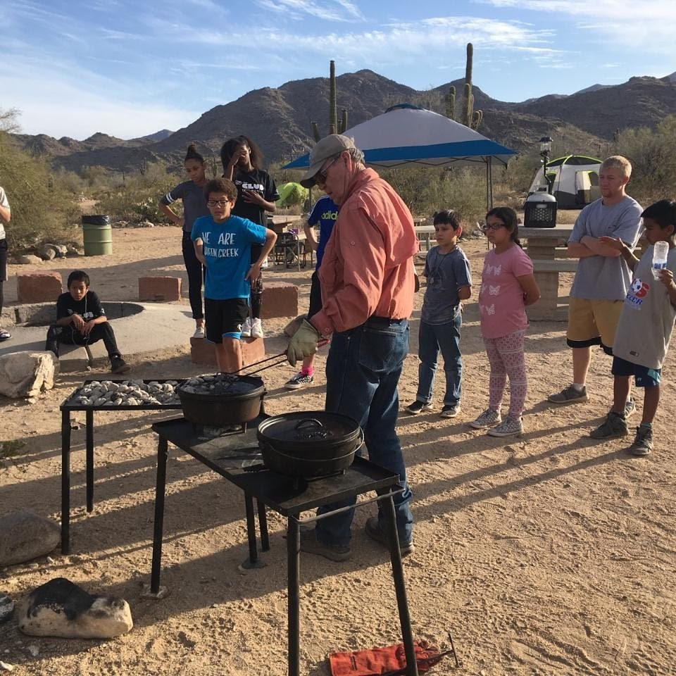 Dutch oven cooking lesson at Arizona Outdoor Adventures