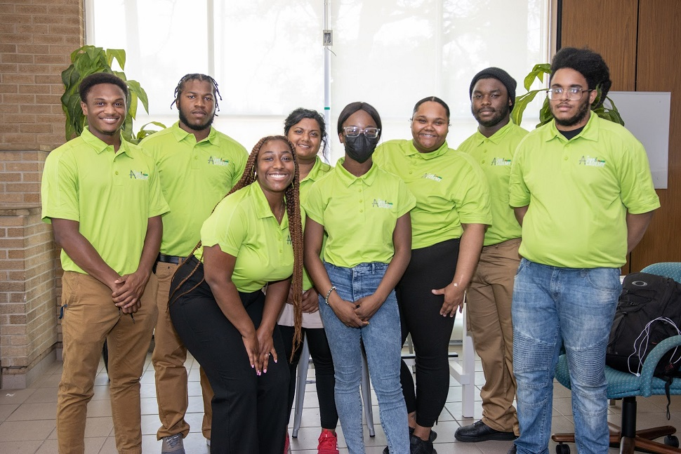 Lawn academy graduates and Americorps volunteers